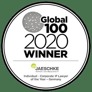 2020 Global 100 - Winner - Dr. Lars Jaeschke, LL.M. -