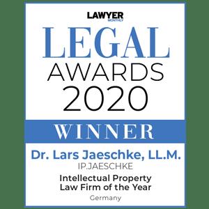 2020 Legal - Awards Winner - Dr. Lars Jaeschke, LL.M. -