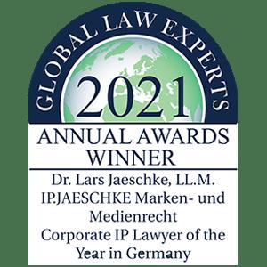 2021 Global Law Experts - Annual Awards Winner - Dr. Lars Jaeschke, LL.M. -