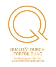 Rechtsanwalt Dr. Lars Jaeschke, LL.M. - Qualität durch Fortbildung, Bundesrechtsanwaltskammer